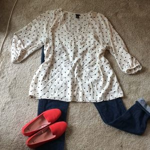 Torrid beautiful polka dot 3/4 sleeves size 2X